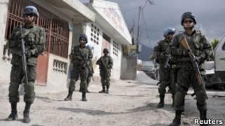 Soldados da missão de paz da ONU no Haiti. Foto: Reuters