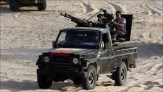 卡扎菲車隊進入尼日爾