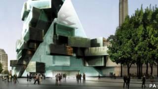 Рисунок проекта нового крыла Tate Modern