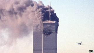 Máy bay tấn công vào tòa tháp  WTC hôm 11/9/2001