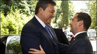 Встреча президентов России и Украины