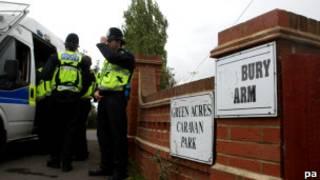 Полицейский рейд в Бедфордшире