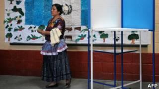 Eleição na Guatemala. AFP