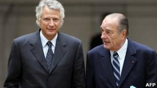 Доминик Де Вильпен и Жак Ширак