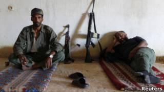Бойцы сил НПС в Бени-Валиде