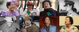 Муаммар Каддафи в разные годы жизни