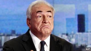 Dominique Strauss-Kahn antes de entrevista. Foto: AP