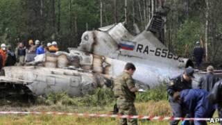 Разбившийся в Карелии Ту-134
