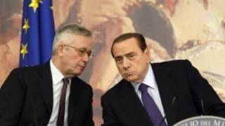Thủ tướng Silvio Berlusconi và Bộ trưởng kinh tế Giulio Tremonti