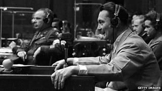 Герман Геринг во время Нюрнбергского процесса