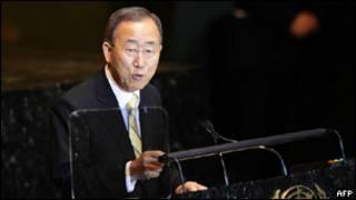 بان کی مون، دبیر کل سازمان ملل متحد