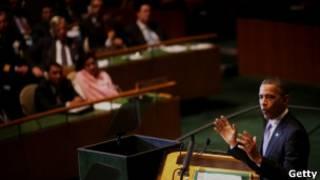 Obama discursa na Assembleia Geral da ONU (Getty)