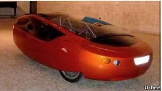 O carro Urbee, exibido no Canadá