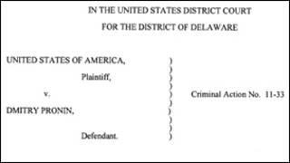 Документы суда над Дмитрием Прониным в США
