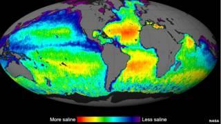 Mapa de la salinidad