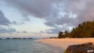 Foto de arquivo de praia nas ilhas Maldivas (AFP)