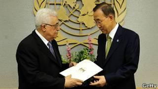 محمود عباس و بان کی مون