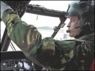 威廉王子驾驶飞机