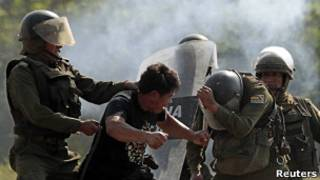 Confronto na Bolívia. Foto: Reuters
