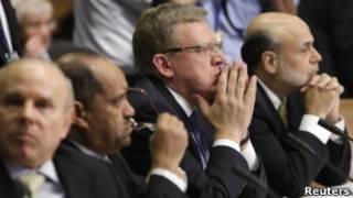 Алексей Кудрин на саммите МВФ