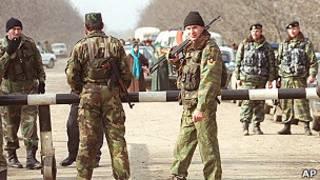 Российский блокпост на Северном Кавказе
