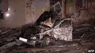 Автомобиль, взорванный в Махачкале 22 сентября