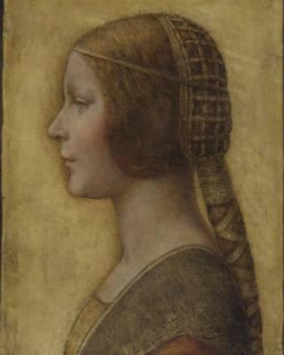 Портрет девушки, смотрящей влево