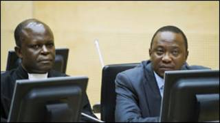Shugaba Kenyatta a Kotu a Hague