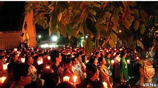 Cầu nguyện hiệp thông với Giáo xứ Thái Hà ở Nhà thờ Kỳ Đồng