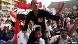 متظاهرون مصريون