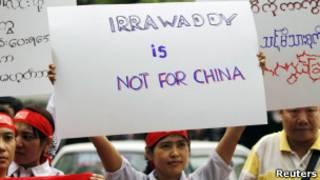 Biểu tình phản đối Trung Quốc xây đập ở Miến Điện