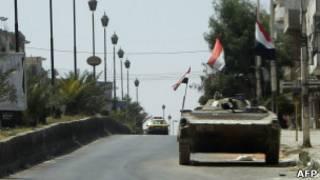 مدرعة سورية في حمص