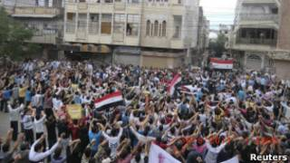 सीरिया में असद विरोधी प्रदर्शन