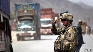 Автоколонна в Афганистане