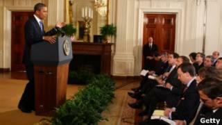 Obama, em entrevista coletiva nesta quinta (Getty)