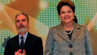 Patriota e Dilma, na Turquia. ABr