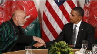 باراک اوباما و حامد کرزی
