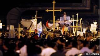 Демонстрация христиан в Каире