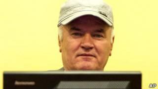 Ратко Младич на заседании трибунала