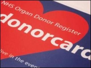 器官捐献注册卡
