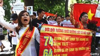 वियतनाम में चीन विरोधी प्रदर्शन