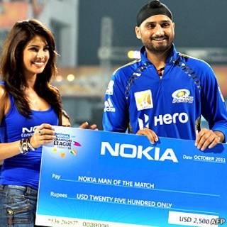 प्रियंका चोपड़ा के साथ हरभजन सिंह