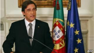 O primeiro-ministro português Pedro Passos Coelho.