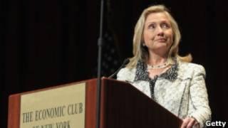 A secretáriade Estado americana Hillary Clinton.