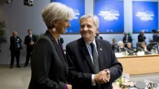 مديرة صندوق النقد ورئيس البنك المركزي الأوروبي