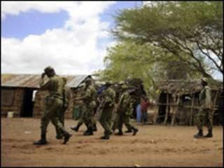 Sojojin Kenya a iyakar Somalia
