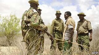سربازان ارتش کنیا در نزدیکی مرز سومالی