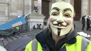 متظاهر في لندن