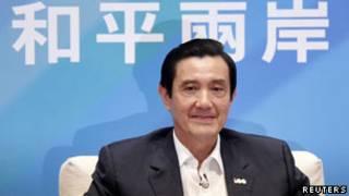 台灣總統馬英九在新聞發佈會上(17/20/2011)