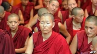 راهبان تبتی در دهلی